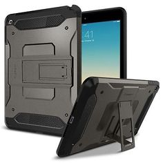 NEW iPad mini 4 Case Spigen Tough Armor SGP11737 Kick-Stand dual layer Gunmetal