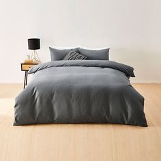 Waffle Quilt Cover Set - Charcoal | Target Australia