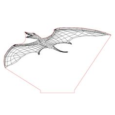Rhamphorhynchus illusion lamp plan vector file for CNC - Sand Glass, Glass Art, 3d Illusion Art, Cnc Router, 3d Animation, Lamp Design, Vector File, Plexus Products, Laser Cutting