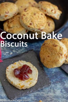 Easy recipe to make coconut bake biscuits. A fusion of cheese biscuits and coconut bake. A great breakfast option. Cooking Recipes, Drink Recipes, Bread Recipes, Easy Recipes, Delicious Recipes, Caribbean Recipes, Caribbean Food, Currant Bread, Trini Food
