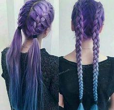 Tempting and Attractive Purple Hair Looks Look accattivanti e attraenti per i capelli viola – JANDAJOSS. Cute Hair Colors, Pretty Hair Color, Hair Color Purple, Hair Dye Colors, Gray Color, Blue And Red Hair, Long Purple Hair, Dyed Hair Blue, Pinterest Hair