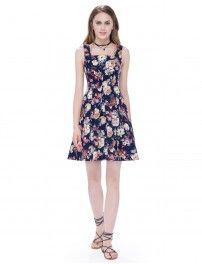 Alisa Pan Sleeveless Fit and Flare Short Casual Dress