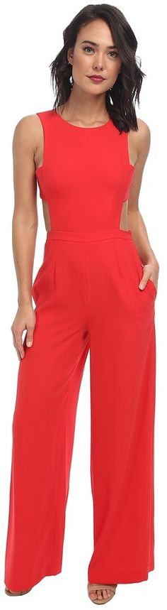 $298, Rossana Cutout Back Jumpsuit by BCBGMAXAZRIA. Sold by Zappos. Click for more info: http://lookastic.com/women/shop_items/136537/redirect