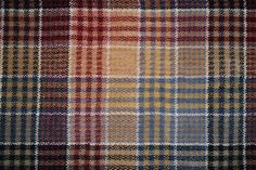 Plaids and Checks Gallery: Highland Tartan, Navy, 100% WOol