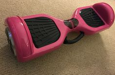 The bubblegum pink hoverboard with a built in handle!!! Free shipping and perfect for a holiday gift.