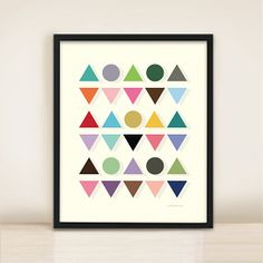 Colorful Geometric Pattern Print