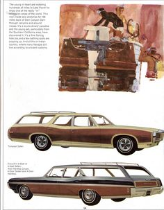 https://flic.kr/p/8Fzi2f | 1968 Pontiac Tempest Safari and Executive Safari Station Wagons