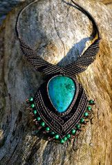 Chrysocolla and Malachite Empire Necklace