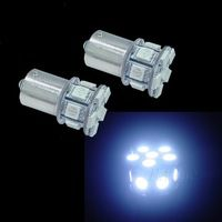2PCS Bau15s 1156 5050 13SMD LED Mini size Car Scooter Motor Tail Turn Light White  #Turnlight  #WhiteLED  #13SMD  #ScooterLight  #CarUse