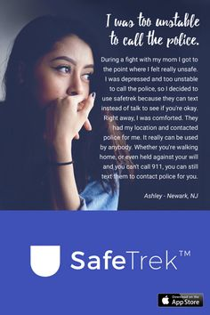 Have you ever been in a situation where you question whether it's dangerous enough to call 911? Instead of worrying yourself with indecision, use SafeTrek. SafeTrek uses advanced technology to get emergency help to your exact location with just the release of a button. It can be used in moments where you simply feel unsafe, as well as moments where you need immediate emergency help.