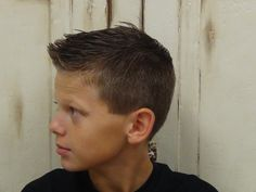 a great how-to video on how to cut boy's hair. (Guys Side Faux Hawk)