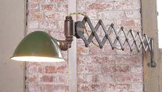 Vintage Industrial Scissors Lamp. Designed by Get Back Inc.
