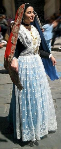 Europe | Traditional bride costume, Cagliari, Sardinia, Italy