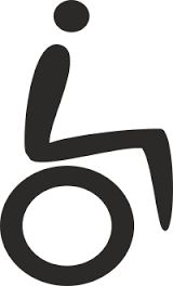 Image result for disability logo black and white