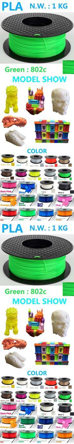 802c Green color pla 3d plastic filament  China factory directly selling pla filament 1.75mm 1kg impressora 3d filamento pla