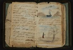 Pictured is Charlotte Bronte's earliest known effort at writing, a short story written for Anne, the baby of the family. The British Library is putting hundreds of its most valuable literary resources online, from the Bronte sisters' childhood writings. Charlotte Bronte, British Library, Book Art, Auryn, Bronte Sisters, Commonplace Book, Little Books, Love Book, Book Lovers