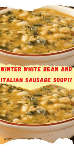 Italian Sausage Soup, Turkey Sausage, Bean Recipes, Soup Recipes, Parmesan Roasted Potatoes, Soup And Sandwich, Low Sodium Chicken Broth, Soup Kitchen, White Beans