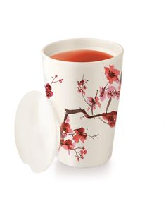 KATI Cup Cherry blossoms - Keramikbecher Kirschblütenzweig Online kaufen bei Tea Forté Deutschland