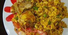 """Fabulosa receta para Paella de conejo y gambón🌿☀️🌻. Esta es otra de mis """"paellas"""" jeje, como siempre digo NO ES LA VALENCIANA! Es un arroz hecho en paellera al que algunos llamamos """"paella"""" y otros me regañaréis por ello (Amig@s valencianos, os quiero)."""
