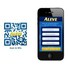 Mobile website for Aleve.