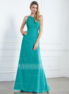 Bridesmaid Dresses - $125.99 - A-Line/Princess One-Shoulder Floor-Length Chiffon Bridesmaid Dress With Ruffle Beading (007004140) http://jjshouse.com/A-Line-Princess-One-Shoulder-Floor-Length-Chiffon-Bridesmaid-Dress-With-Ruffle-Beading-007004140-g4140