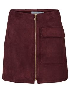 Skirt from VERO MODA. Use with a colourful shirt and long leather boots.