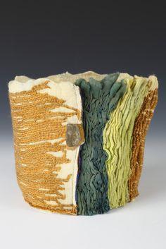 Gathered Basket Handmade Felt, Merino Wool, Basket, Textiles, Inspiration, Biblical Inspiration, Cloths, Fabrics, Textile Art