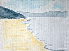 Woolacombe Bay Watercolour
