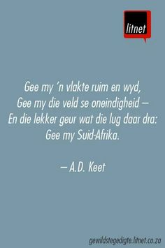 """Maar een Suid-Afrika"" deur A. Me Quotes, Qoutes, Afrikaanse Quotes, Making Words, Creative Lettering, True Words, Favorite Quotes, Verses, Poems"