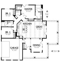1122 House Plan - 6620 - I LOVE this plan!   i would make a few adjustments but it is perfect!-MSC