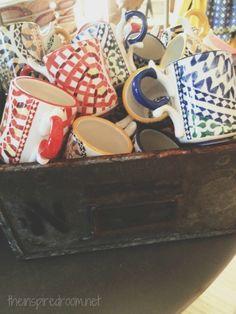 Anthropologie mugs dishes display