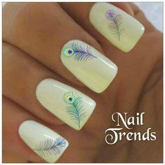 Feather Vinyl Nail Stickers, Nail Art, Nail Decals, Designs For Nails, Nail Trends, Nails, Nail Polish, Beautiful Nails, Manicure, Pedicure