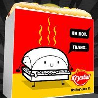 Krystal Design a Box Contest Winners Travel to Chattanooga Krystal Restaurant, Fast Food Restaurant, Hamburger Box, Trivia, Sliders, Boxes, Design, Crates, Quizes