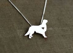 King Charles Cavalier spaniel, sterling silver necklace, hand cut pendant on Etsy, $40.00
