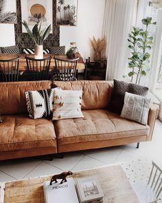 Bohemian Latest And Stylish Home decor Design And Life Style Ideas Minimalistdecor Stylish Home Decor, Cheap Home Decor, Modern Decor, Modern Bohemian Decor, Modern Interior, Home Decor Bedroom, Living Room Decor, Living Spaces, Tan Sofa Living Room Ideas