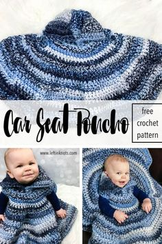 Children aren't supposed to wear bulky jackets in their car seats, but they also need to stay warm during the cold winter days. That's why your littles need a car seat poncho! Use this free crochet pattern and super bulky yarn to make this easy car seat poncho that even a beginner could make. Your babies will stay safe, warm and cozy! #crochet #freecrochetpattern #carseatsafety