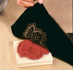 We did this for Christmas presents growing up - We made little velvet bags with a design on the front.  So fun!