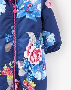 Cosy Navy Floral Snowsuit  | Joules US
