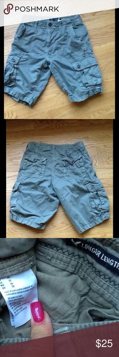 AMERICAN EAGLE CARGO SHORTS LONGER STYLE New! Bought for my son and they were to small, he never wore them. American Eagle Outfitters Shorts Cargo