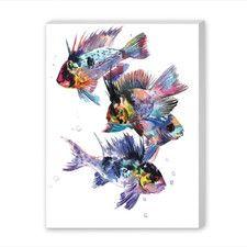 Cichlid Ram by Suren Nersisyan Painting Print on Gallery Wrapped Canvas