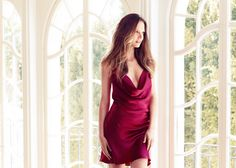 Naked Princess Lila Chemise in Raspberry. #silk #cowlneck