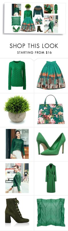 """green day"" by marianaypaula ❤ liked on Polyvore featuring Lands' End, Gucci, Nine West, Jil Sander, Prada, Temperley London and GREEN"