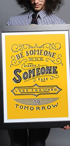 Be someone who helps make someone else look forward to tomorrow http://www.sevenly.org/?cid=InflPinterest0002Jade