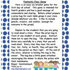 Here is an easy ice breaker for the first day of school.  This game is intended for fourth graders and has a good message of sharing.  Before schoo...