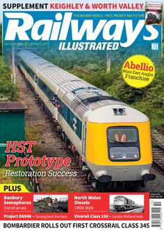 16///Railways Illustrated is the monthly magazine devoted to British railway enthusiasts covering the modern scene. Each issue contains news, features and views in addition to reviews, events diary, charter trains, preservation, main line steam, steam galas, event reviews, nostalgia and rolling stock changes. Unlike other magazines on the market, Railways Illustrated reviews events, tackles the issues affecting today's enthusiasts, heritage and modern day railway industries.