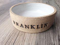 Custom Ceramic Dog Bowl, Cat Bowl, Non-Toxic, Dishwasher Safe, Personalized Dog Bowl with Name