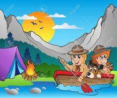 kampeervakantie cartoon dutch - Google zoeken Stock Foto, En Stock, Holiday Cartoon, Wooden Boats, Paddle, Layout Design, Royalty, Cartoons, Design Inspiration