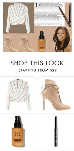 """""""Brown look good"""" by that-kiid on Polyvore featuring Gianvito Rossi, Balmain, Bobbi Brown Cosmetics and Clinique"""