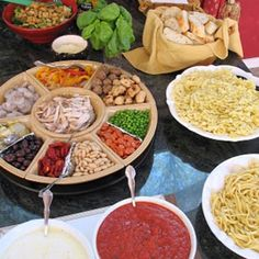 Pasta bar-dinner party