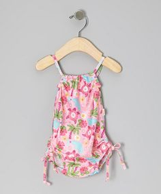 Swimming in UPF rated protection and an adorable print, this fun one-piece will have darlings ready for splish-splash aquatic adventures. An elastic waistband, comfy lining and adjustable ties at the leg openings keep cuties fitting in just right. Baby Swimwear, Little Fashion, Wardrobes, Tankini, Splish Splash, Infant Toddler, Toddler Girls, Swimsuits, Rompers